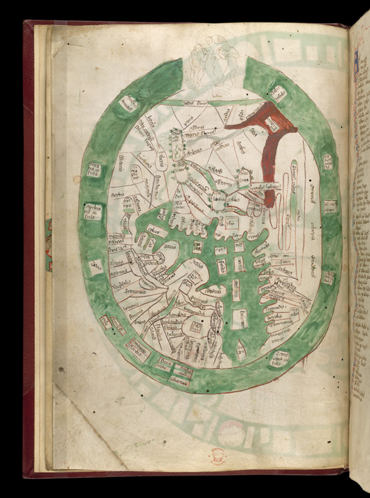 Map Of The World, In Ranulph Higden's 'Polychronicon' f.2v